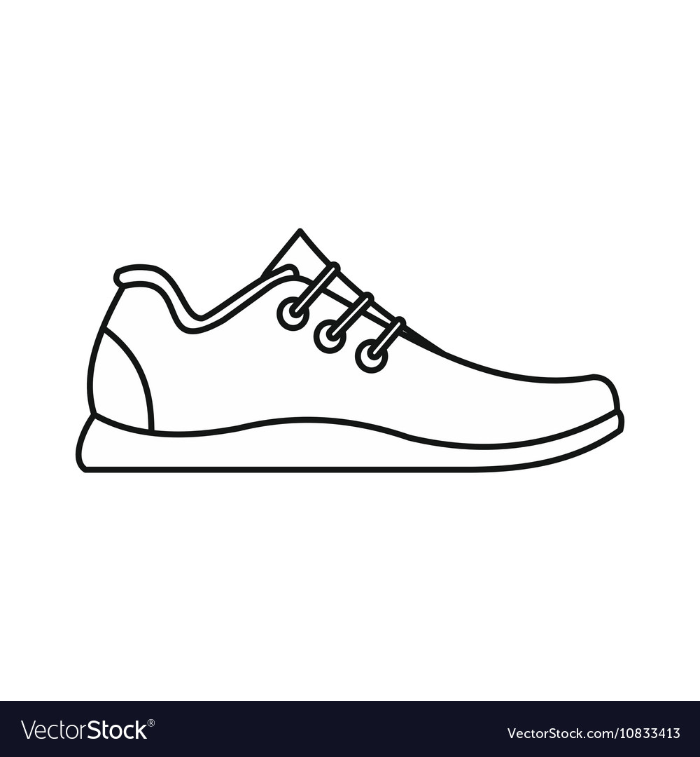 Athletic shoe icon outline style