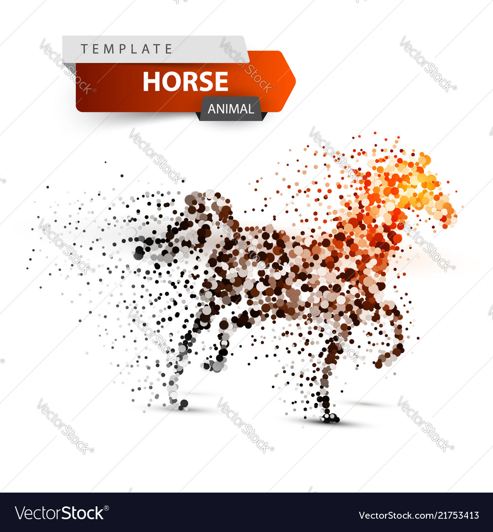 Beautiful horse - abstract dot