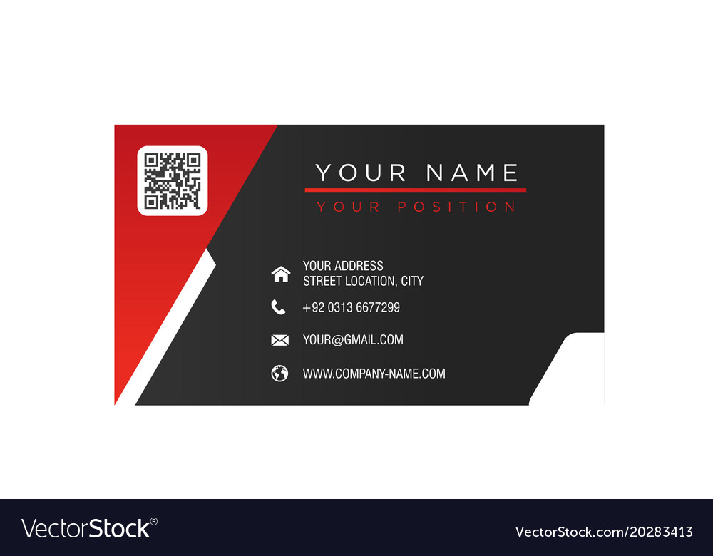 Business card red and black background imag vector image reheart Gallery