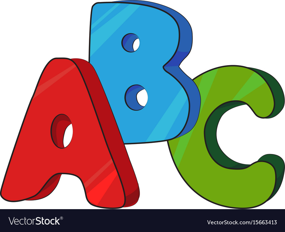 Cartoon image of abc letters