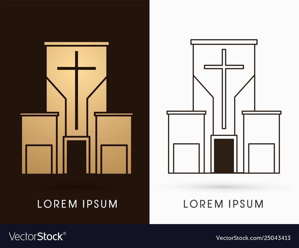 Church building logo graphic