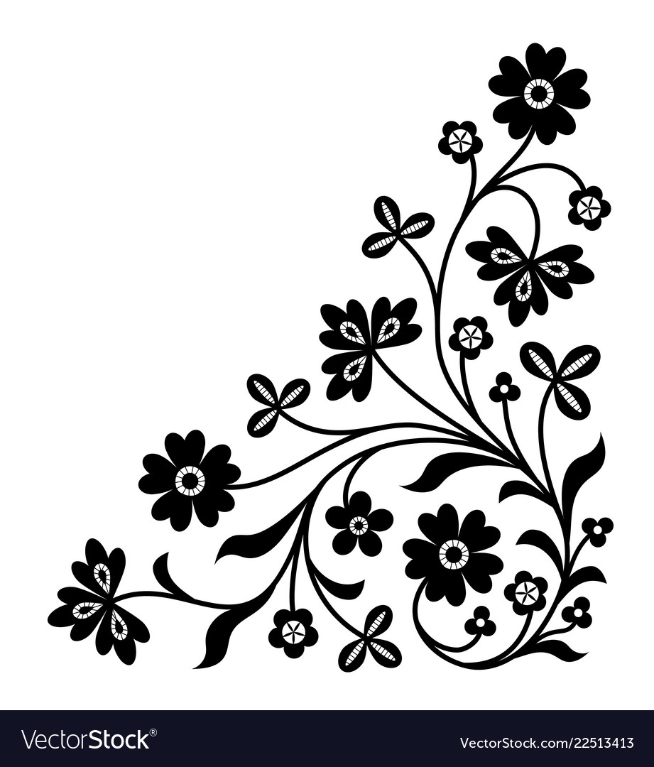 corner ornament royalty free vector image vectorstock vectorstock