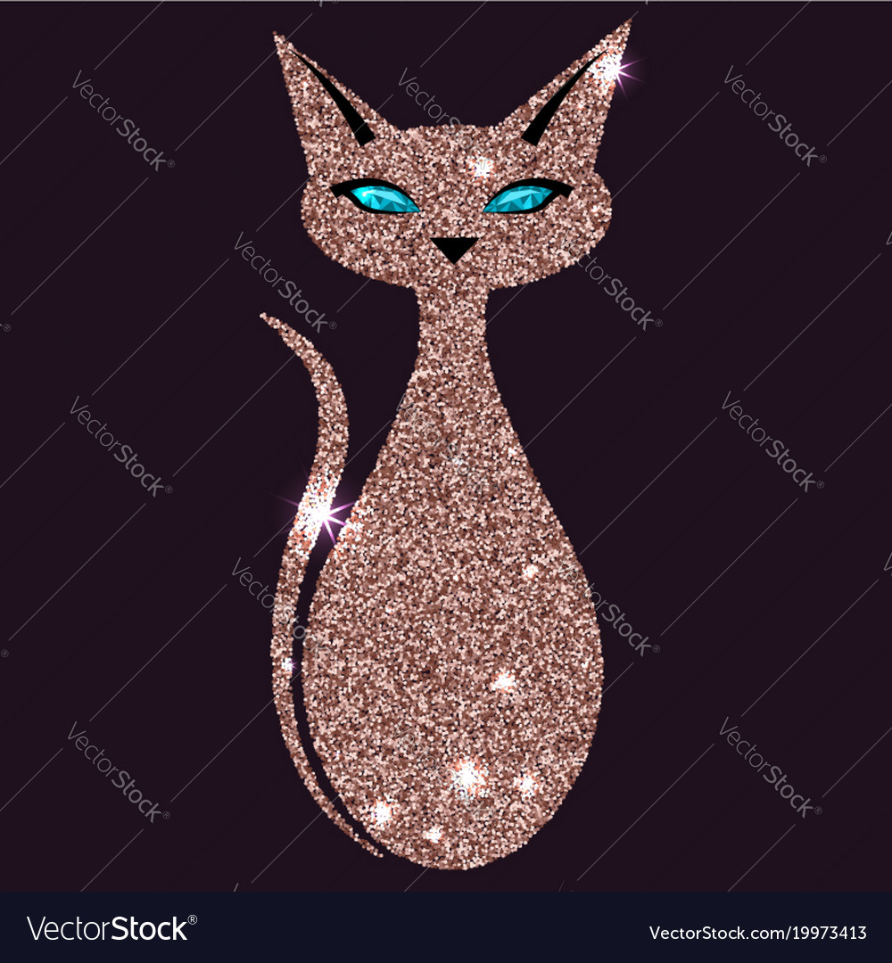 Gold rose cat with blue eyes
