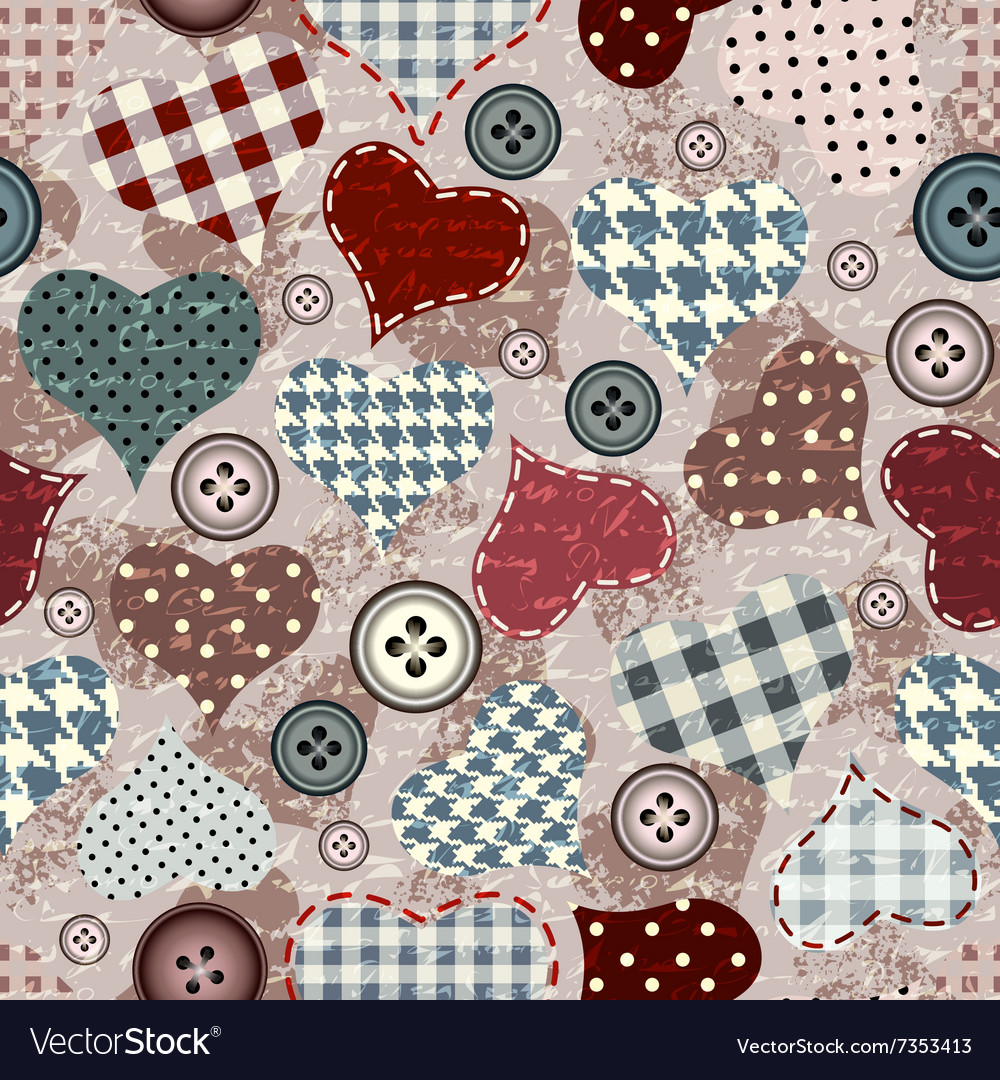 Grunge hearts background