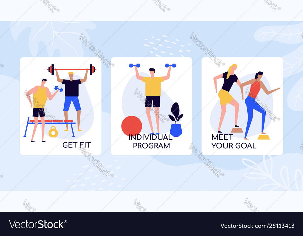 Gym training and fitness banner template