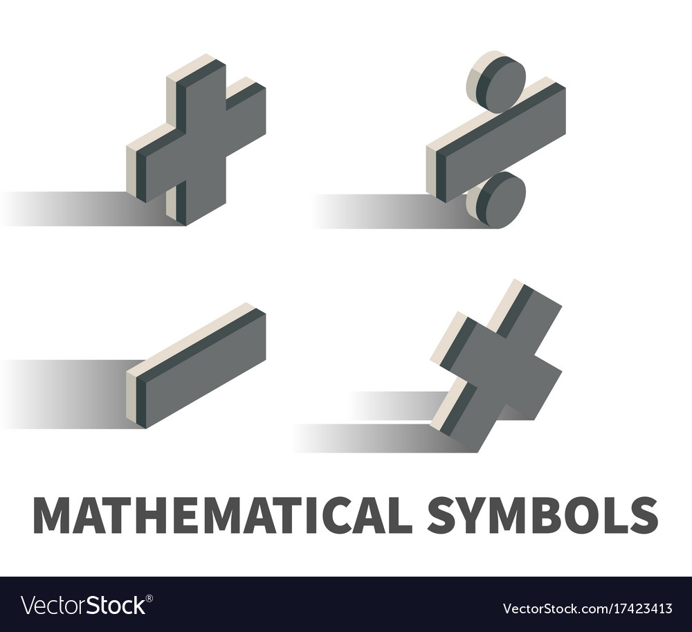 Mathematical Symbols Icon Symbol Royalty Free Vector Image
