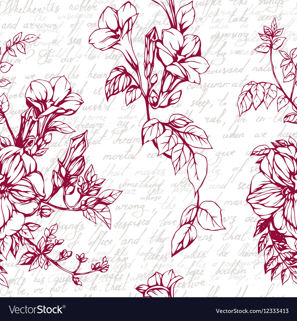Seamless background with drawings of vector image