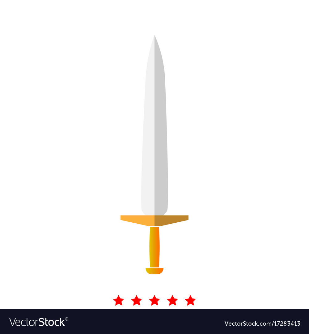 Simple sword it is icon vector image