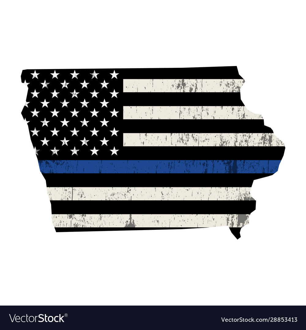State iowa police support flag