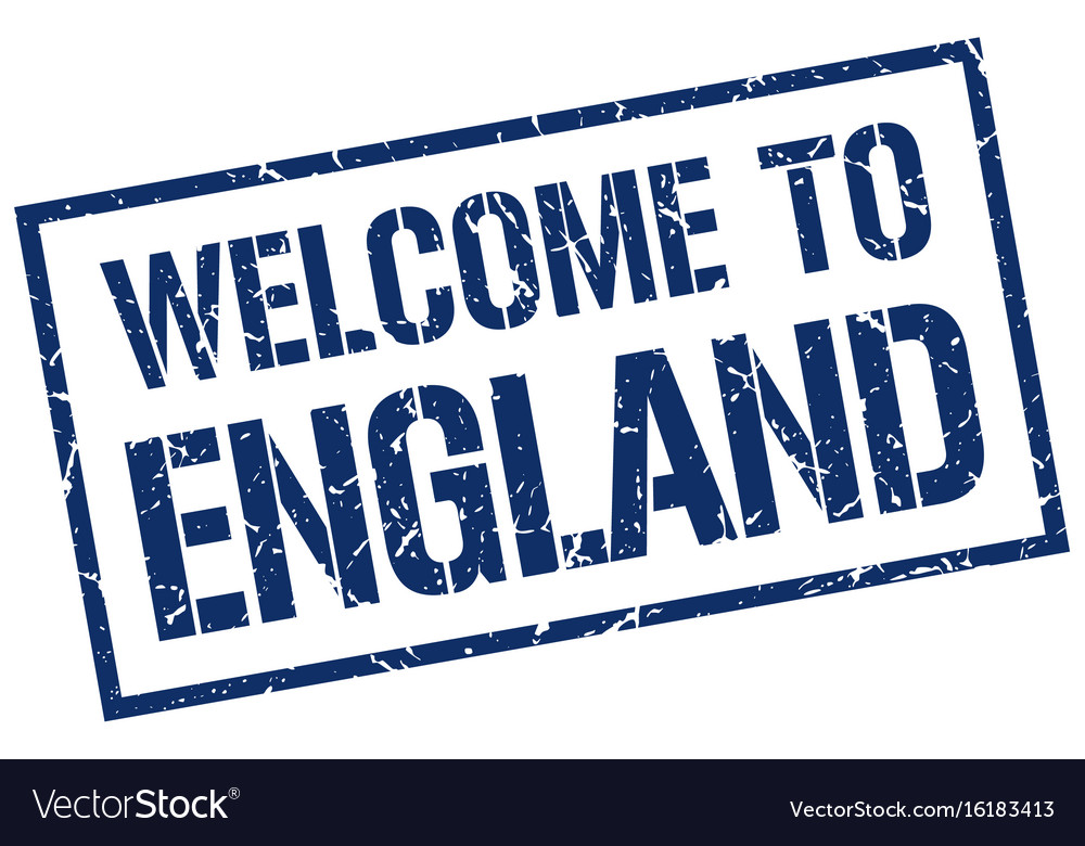 Welcome to england stamp