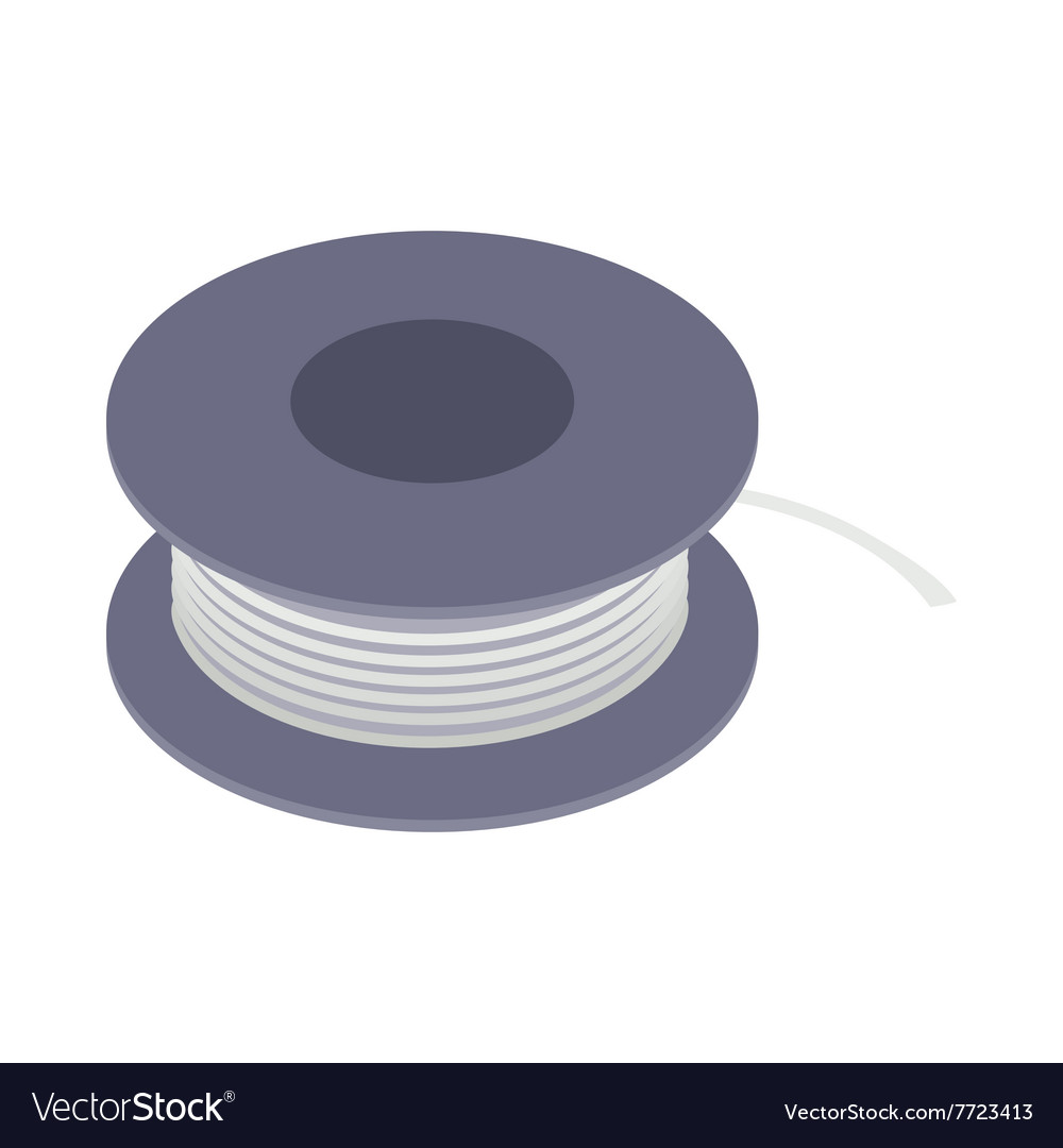 Wire spool icon isometric 3d style Royalty Free Vector Image