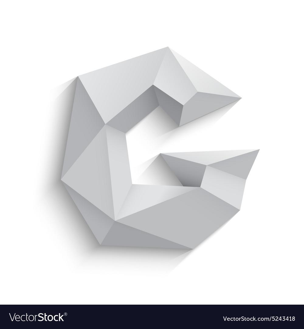 3d letter G on white