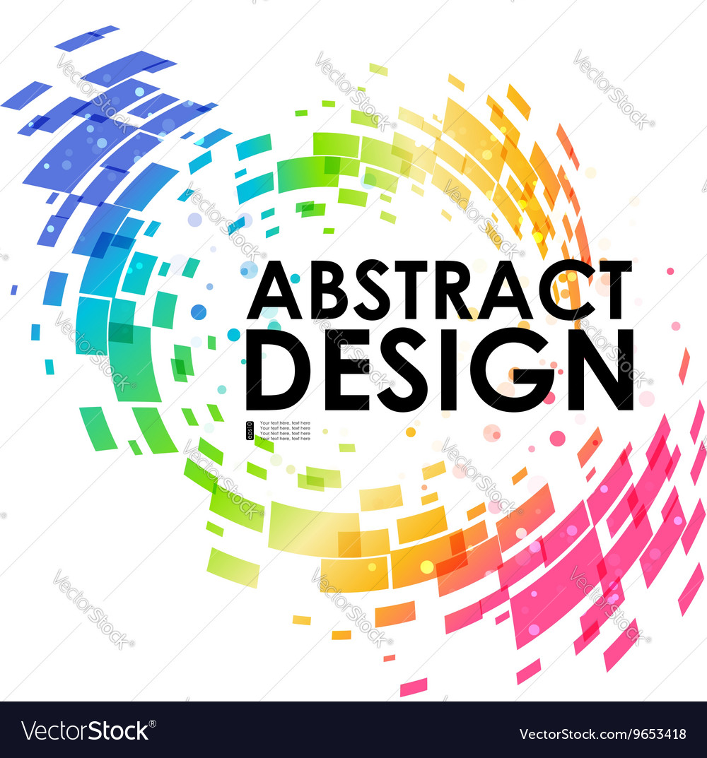 Abstract geometric colorful circular background vector image