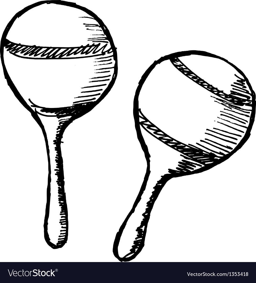 Maracas vector image