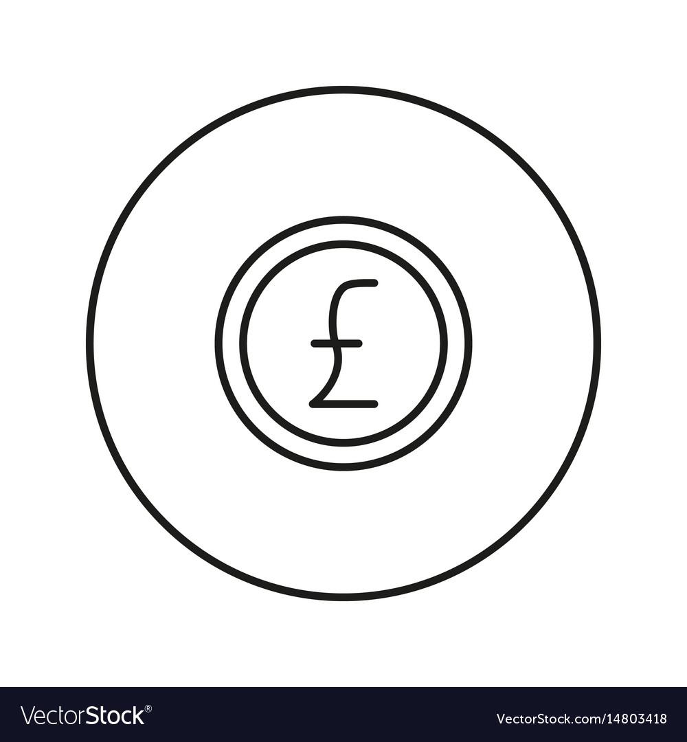 Money sign coin pound