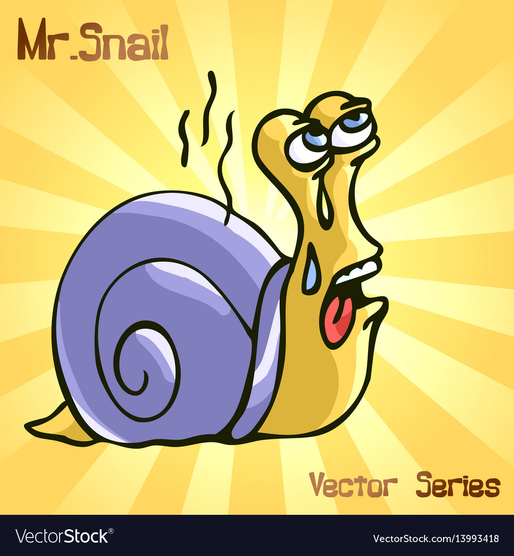 Mr snail with steam vector image