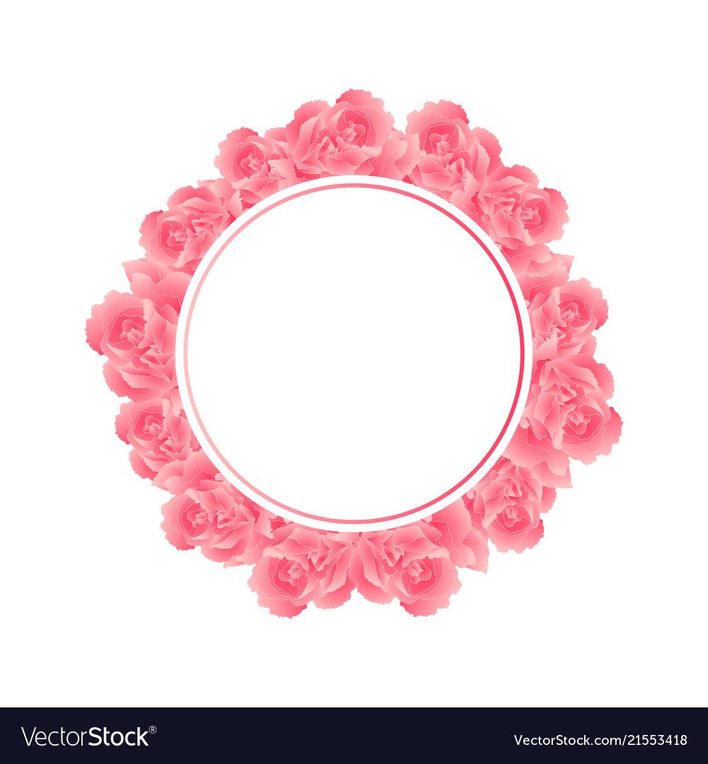 Pink carnation flower banner wreath