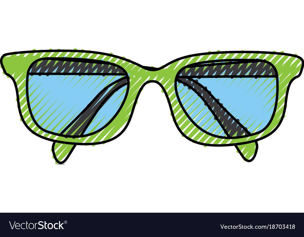 Scribble glasses cartoon vector image
