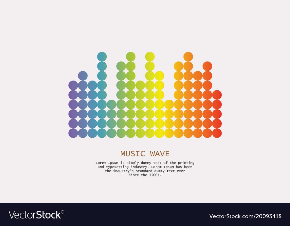 Sound banner color logo equalizer