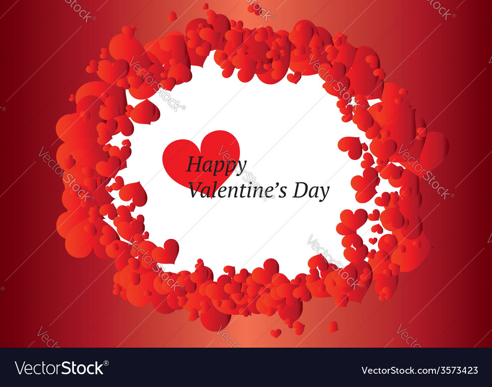 Beautiful Valentines Day Frame Royalty Free Vector Image