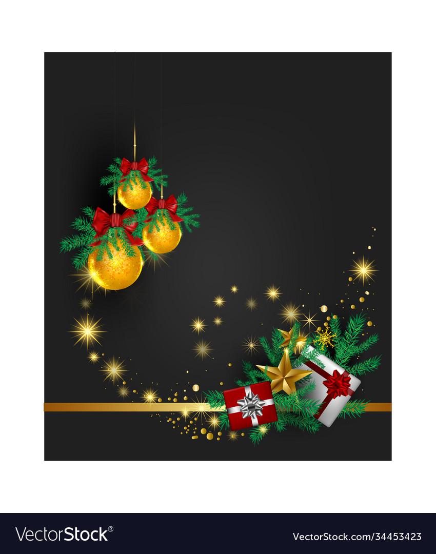 Christmas gray background with tree