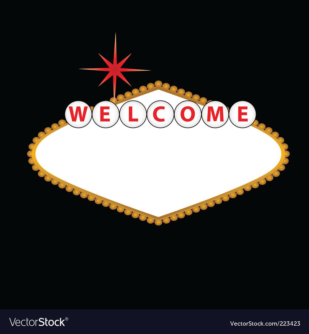 welcome to las vegas sign vector. las vegas sign vector.