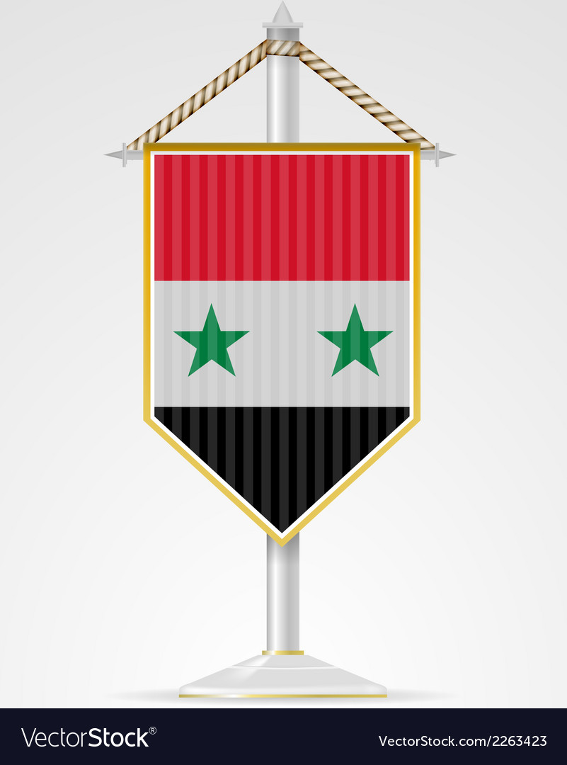 National symbols of Asian countries Syria vector image