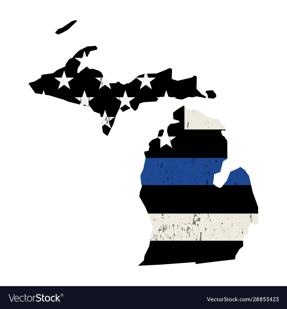 State michigan police support flag