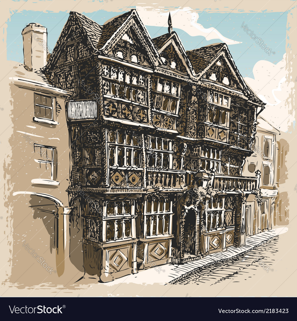 Vintage View of Feathers Hotel at Ludlow in