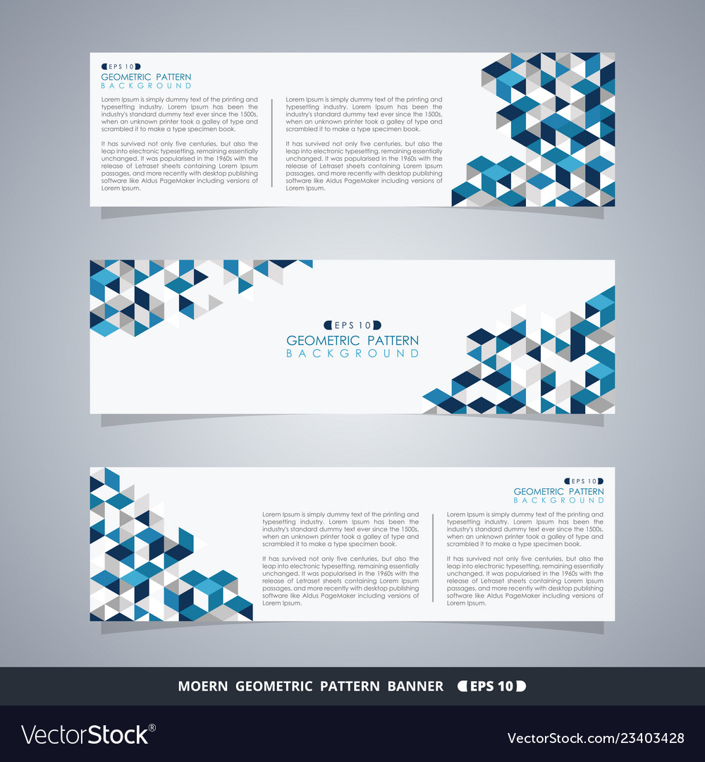 Abstract of blue geometric pattern banner