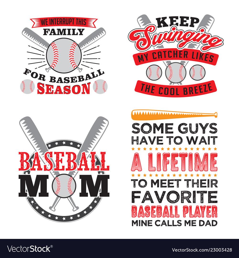 Baseball quote and saying set