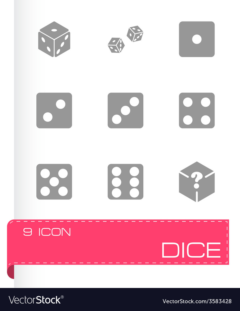 Dice icon set