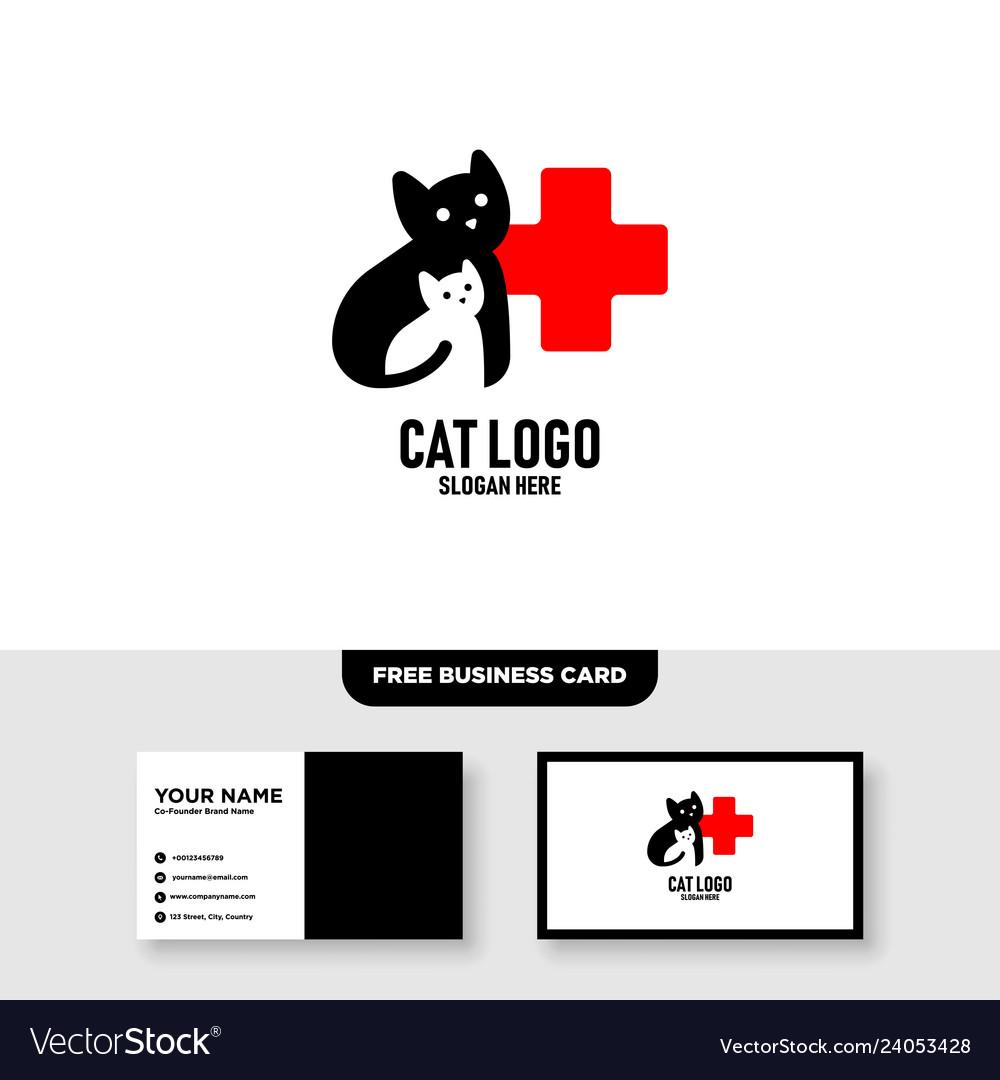Pet care logo template free business card
