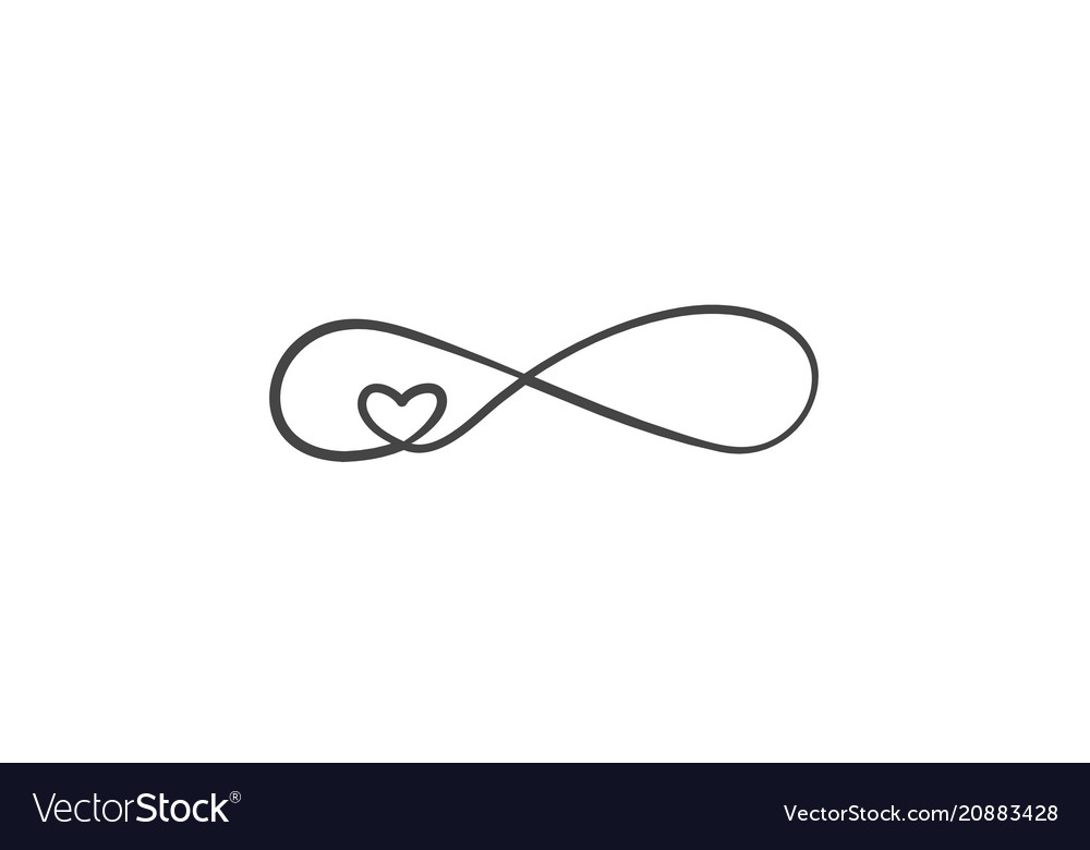 d636973199d55 Sign of infinity and heart icon element of