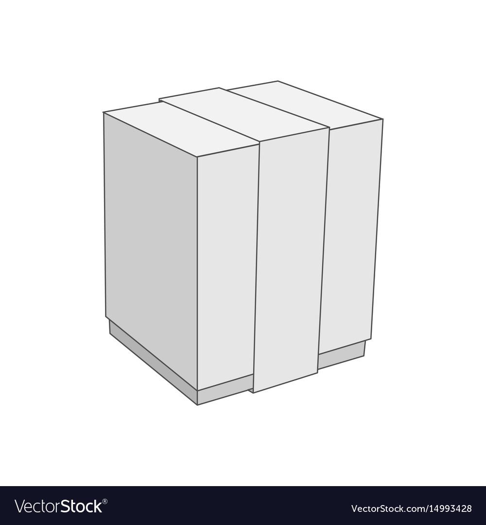 White Cardboard Blank Box Template Vector Image