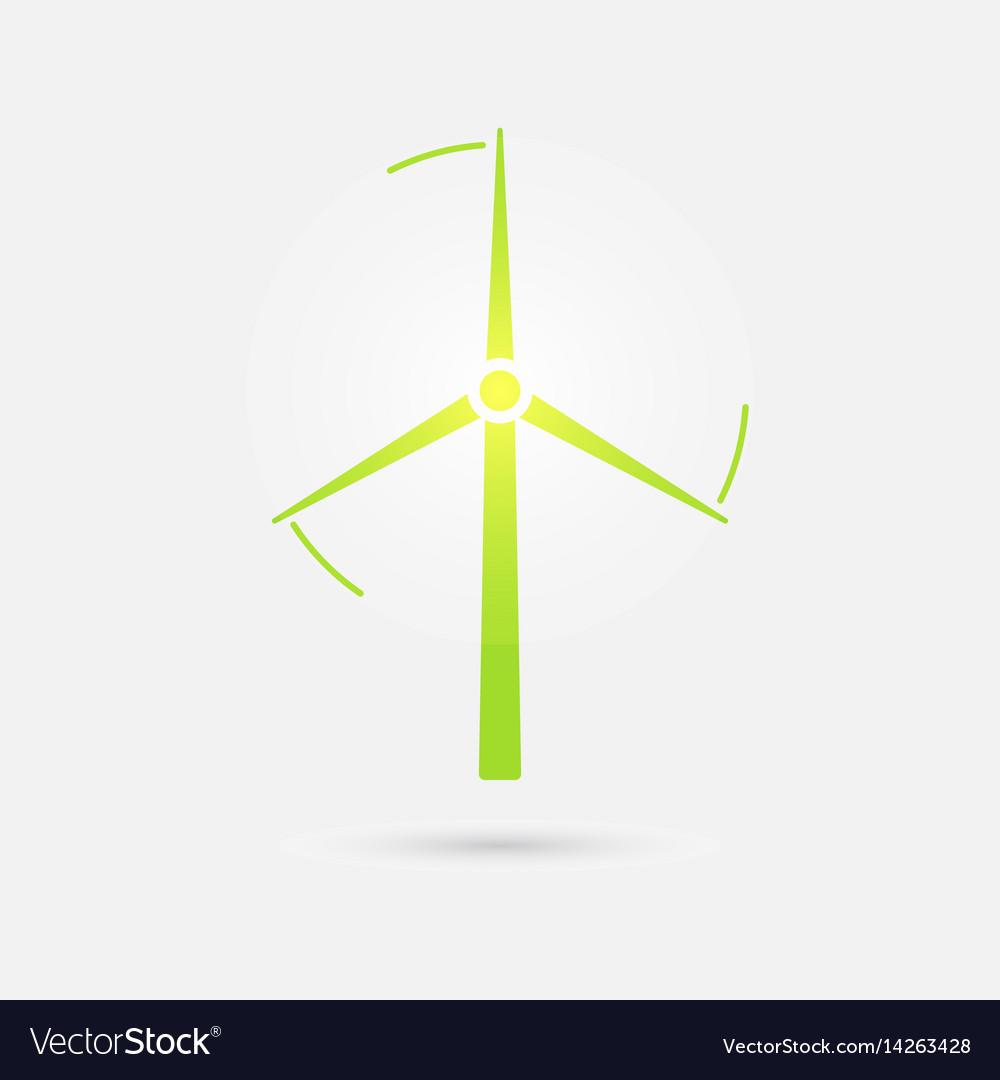 Wind turbine tower icon design