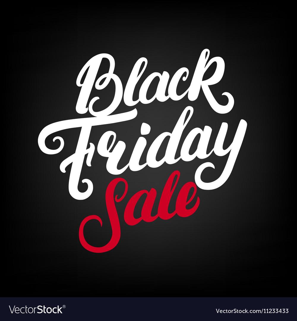 Black Friday Sale hand written lettering