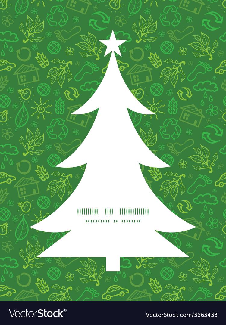 Christmas Tree Pattern.Ecology Symbols Christmas Tree Silhouette Pattern