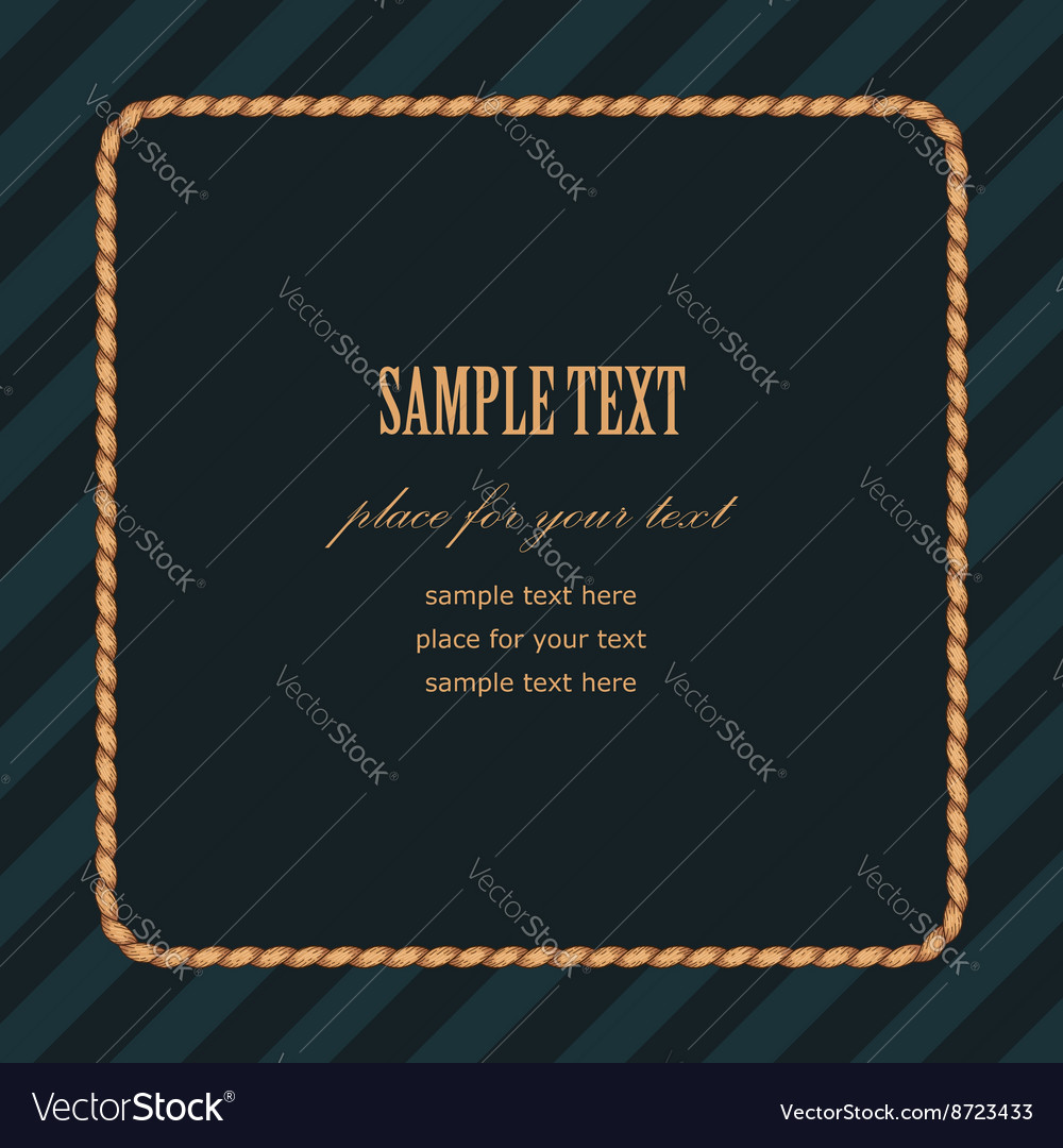 Frame rope square vector image