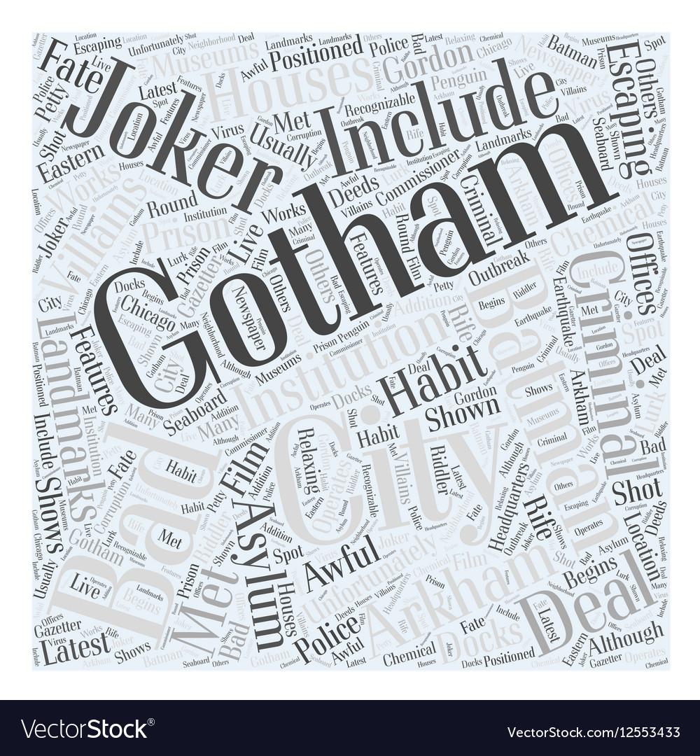 Gotham city Word Cloud Concept