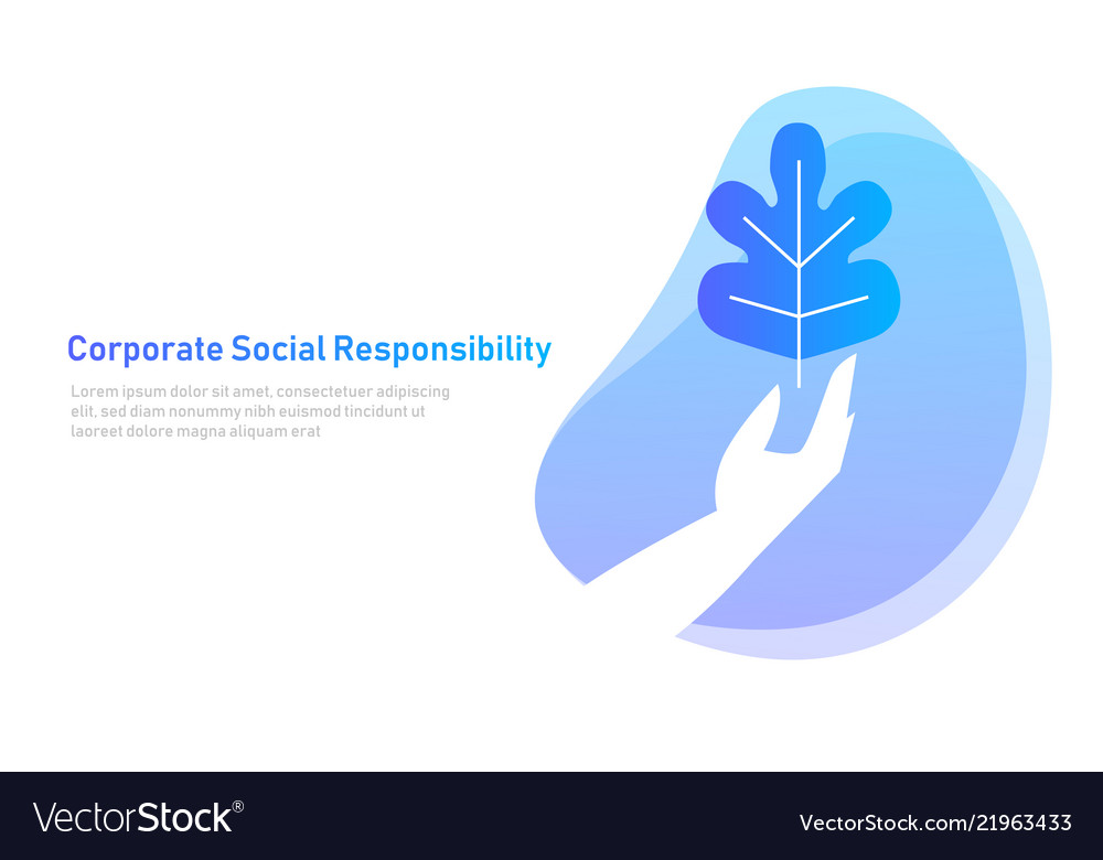 Nature leaf on hand symbol concept of corporate