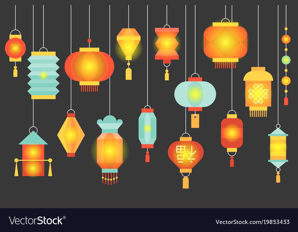 Night scene of traditional chinese paper lantern