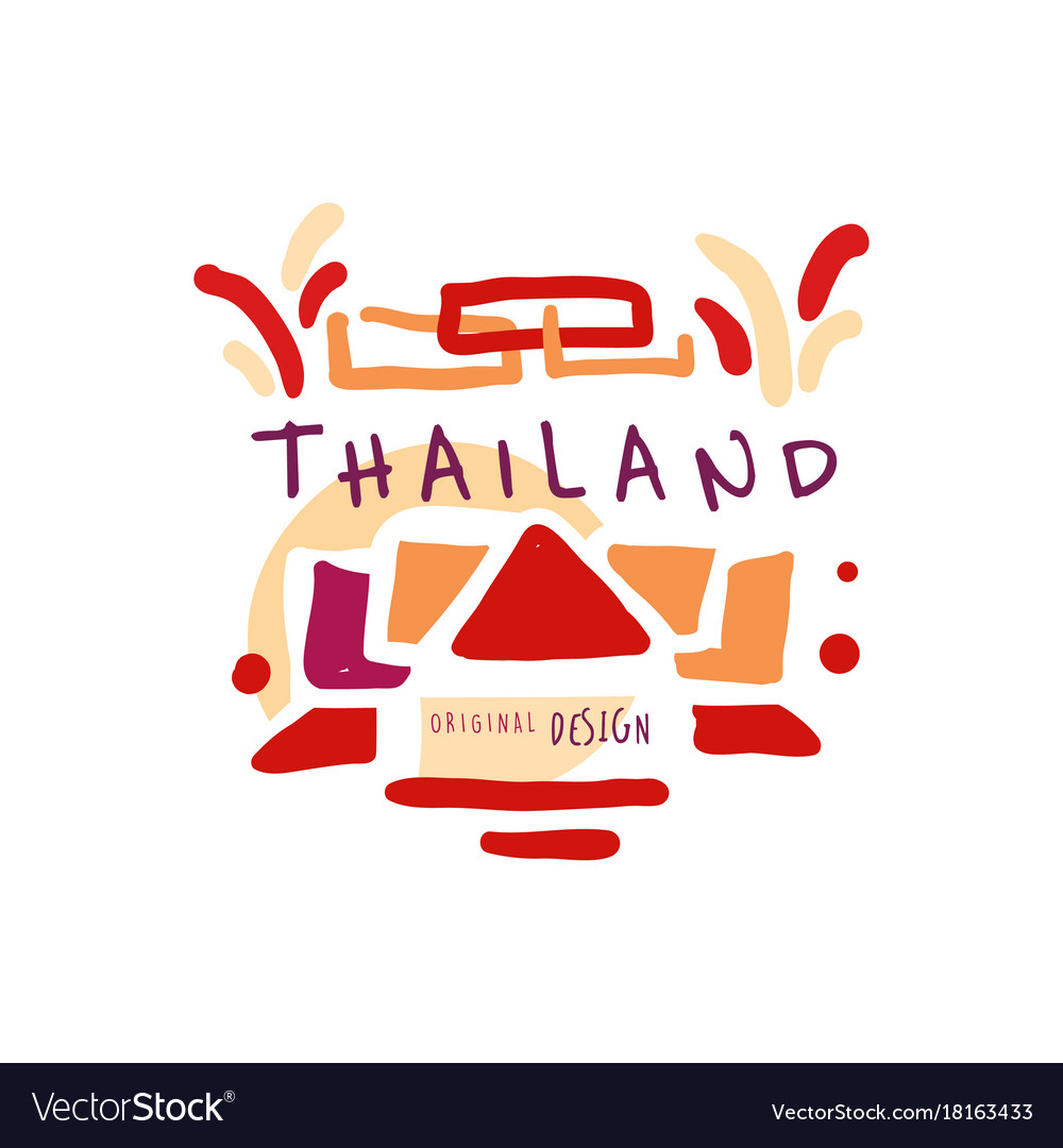 Time to travel to thailand travel agency logo