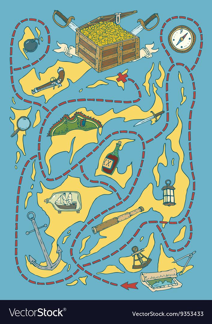 Treasure Island Map Maze Game