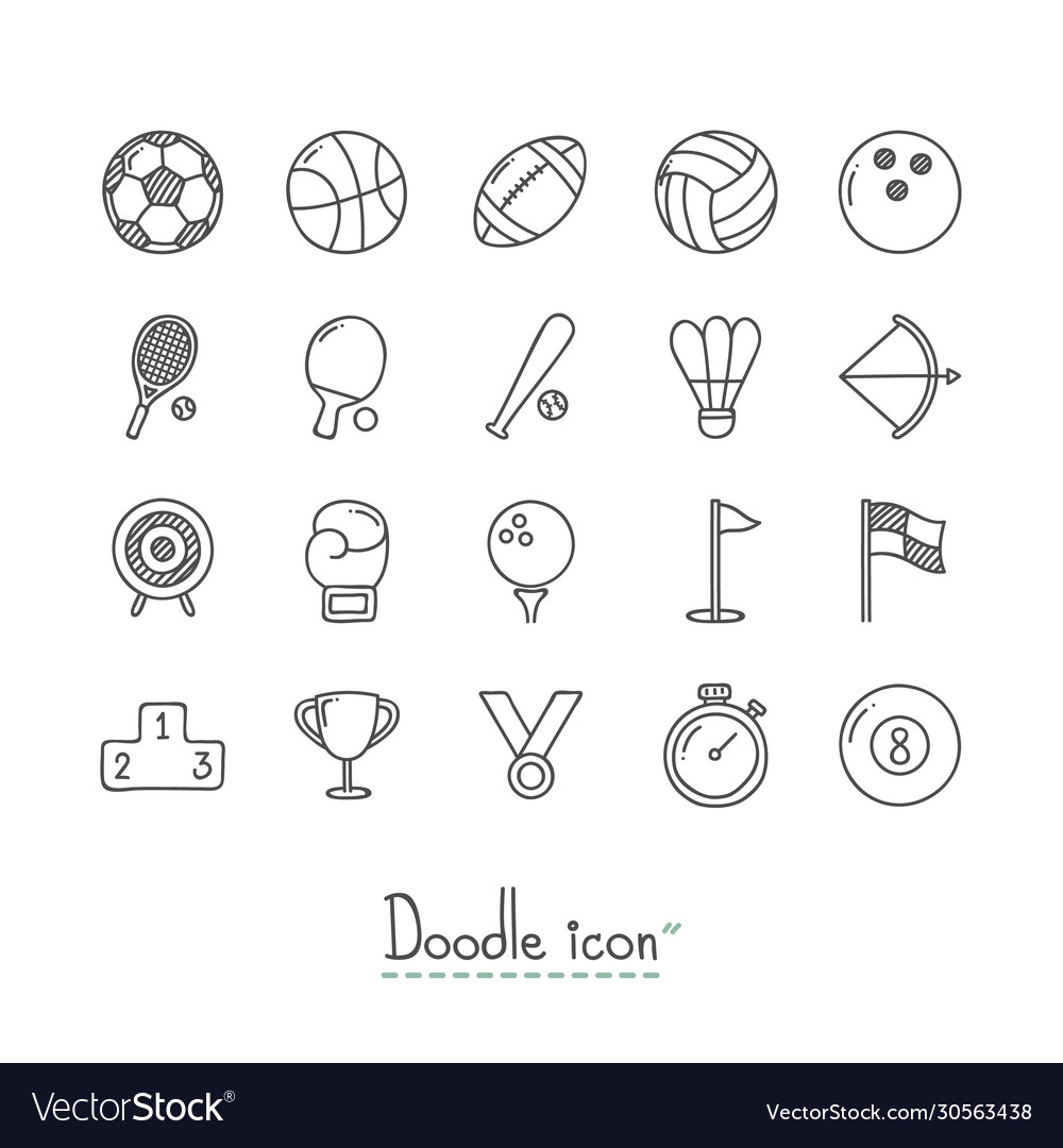 Doodle sports icons
