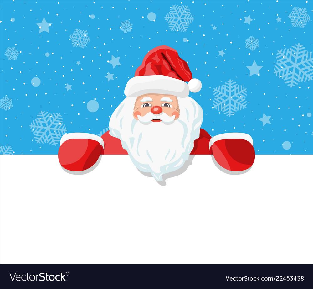 Funny santa claus character greeting