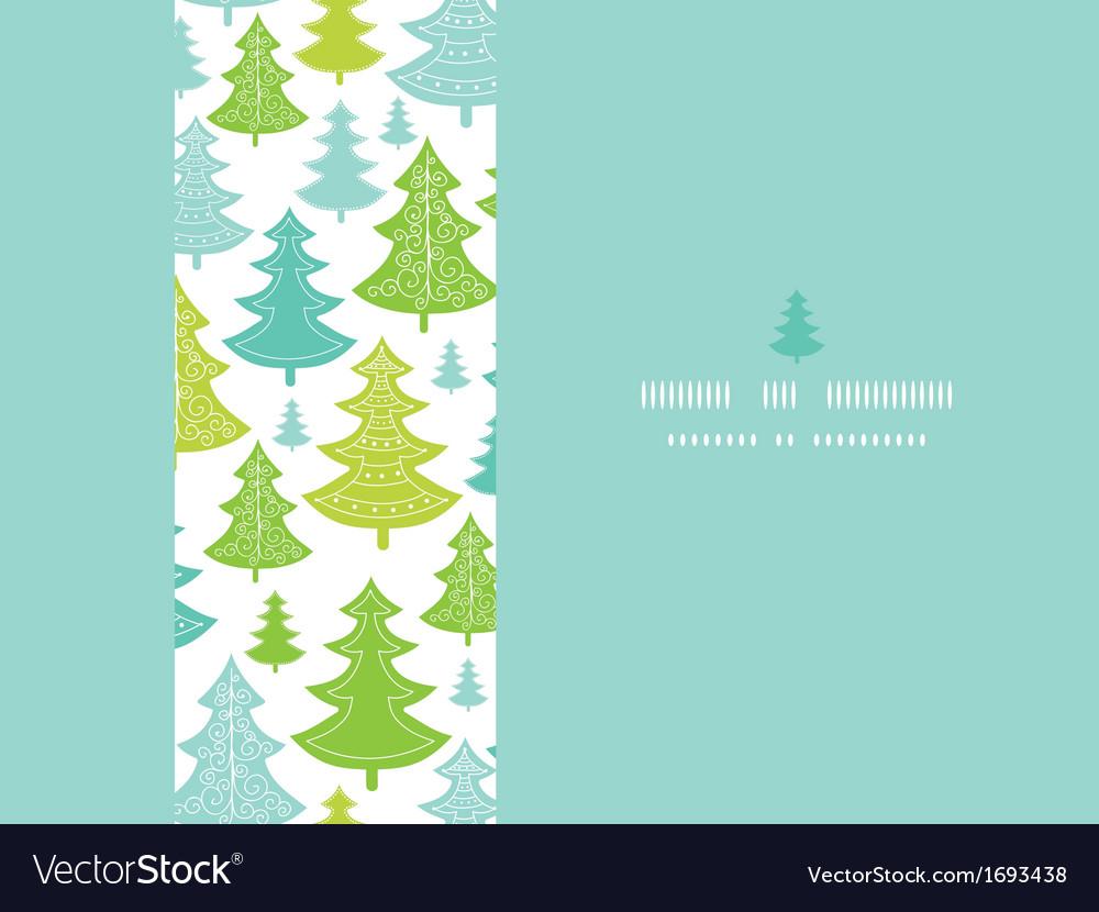 Holiday Christmas trees horizontal seamless
