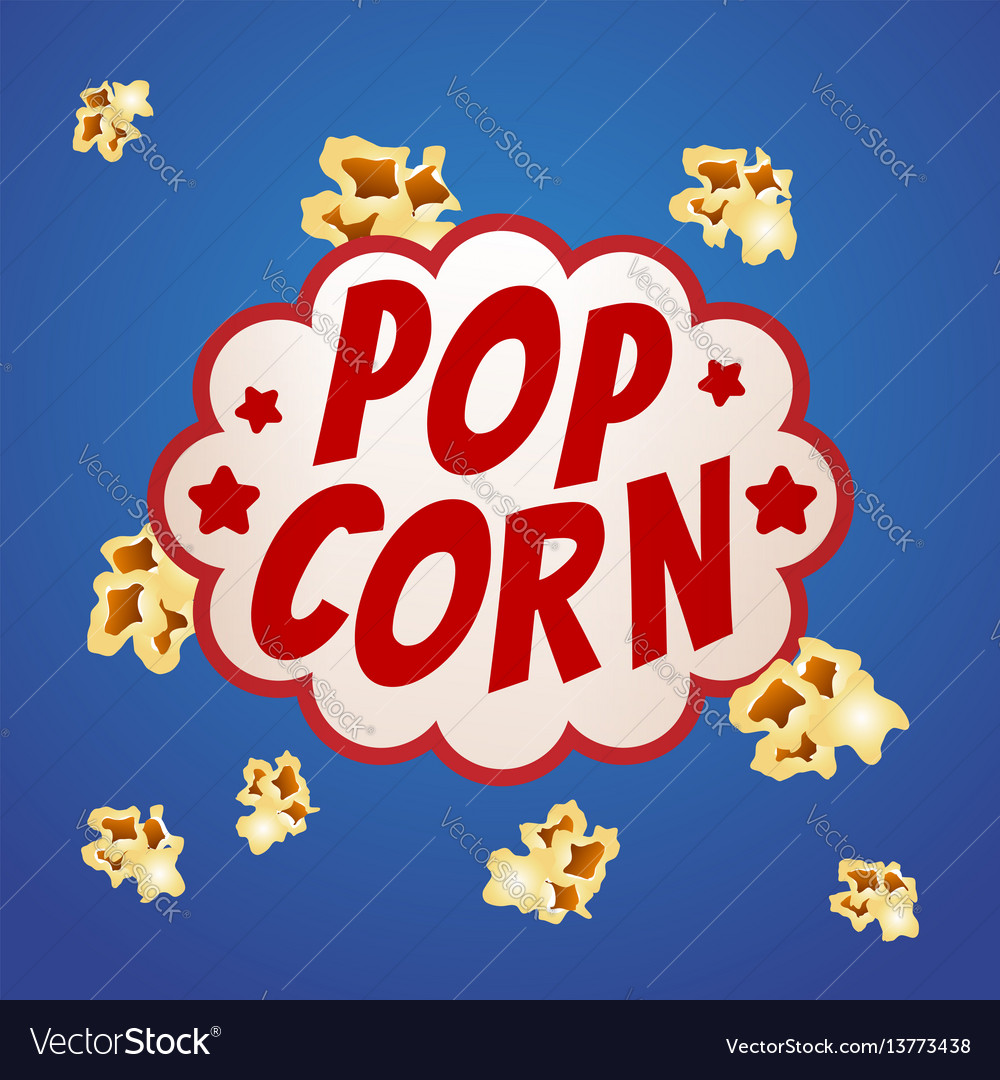 Pop corn sign logo vintage poster vector image
