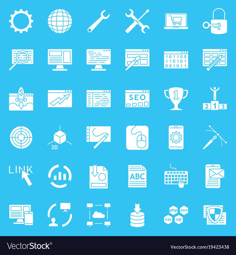 Set of web development icons internet icon