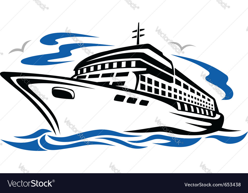Ship silhouette vector image